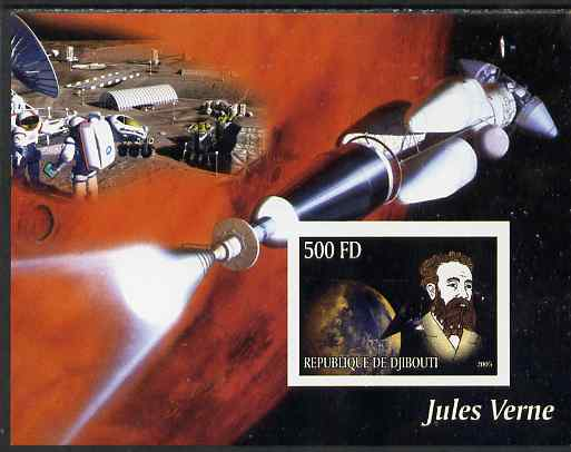 Djibouti 2005 Jules Verne #1 imperf m/sheet unmounted mint. Note this item is privately produced and is offered purely on its thematic appeal