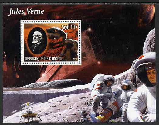 Djibouti 2005 Jules Verne #4 perf m/sheet unmounted mint