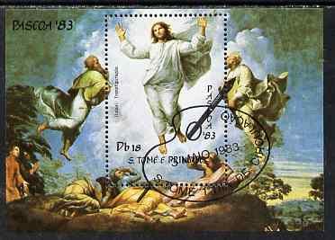 St Thomas & Prince Islands 1983 Paintings by Raffael - The Transfiguration perf s/sheet fine cto used