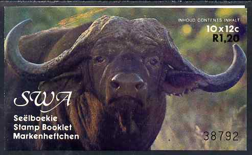 Booklet - South West Africa 1986 R1.20 booklet (Buffaloes) SG SB1