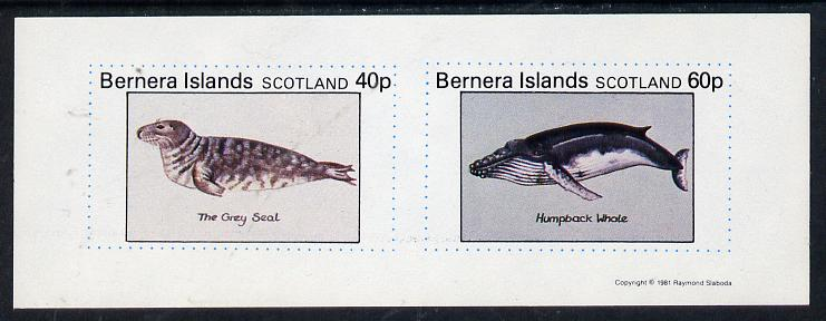 Bernera 1981 Marine Animals (Grey Seal & Humpback Whale) imperf  set of 2 values (40p & 60p) unmounted mint