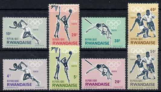 Rwanda 1964 Tokyo Olympic Games perf set of 8 unmounted mint, SG 76-83