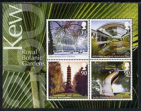 Great Britain 2009 Royal Botanical Gardens, Kew perf m/sheet unmounted mint , stamps on flowers, stamps on london, stamps on