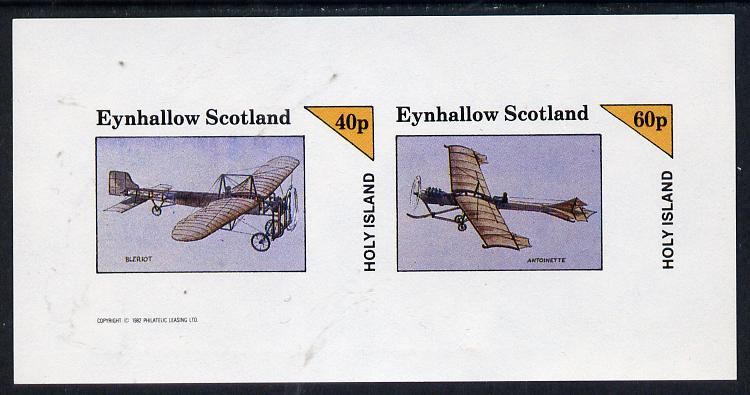 Eynhallow 1982 Early Aircraft #1 (Bleriot & Antoinette) imperf  set of 2 values (40p & 60p) unmounted mint