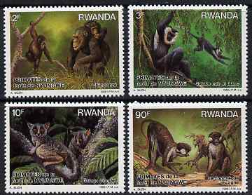 Rwanda 1988 Primates of Nyungwe Forest perf set of 4 unmounted mint, SG 1316-19