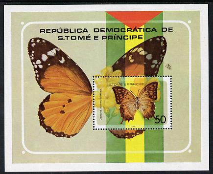 St Thomas & Prince Islands 1979 Butterflies perf m/sheet unmounted mint, Mi BL 32