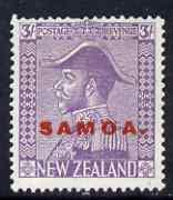 Samoa 1926-27 KG5 Admiral 3s pale mauve mounted mint SG170