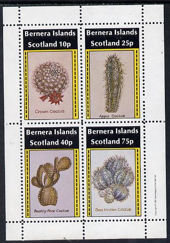 Bernera 1981 Cacti (Crown Cactus, Apple Cactus etc) perf  set of 4 values (imprint in outer margin) unmounted mint