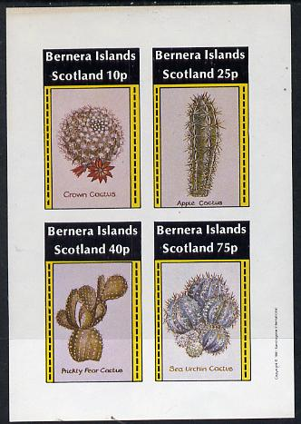 Bernera 1981 Cacti (Crown Cactus, Apple Cactus etc) imperf  set of 4 values (imprint in outer margin) unmounted mint