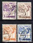 Luxembourg 1925 Anti-Tuberculosis Fund set of 4 fine cds used SG 241-4