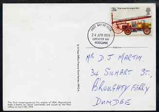 Great Britain 1974 Fire Services 3.5p PHQ card with appropriate stamp very fine used with first day cancels (hand written address)