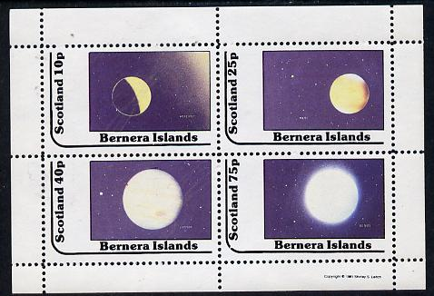 Bernera 1981 Planets (Mercury, Mars, Jupiter & Venus) perf  set of 4 values (10p to 75p) unmounted mint