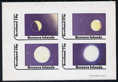 Bernera 1981 Planets (Mercury, Mars, Jupiter & Venus) imperf  set of 4 values (10p to 75p) unmounted mint