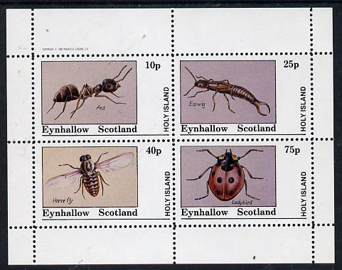 Eynhallow 1982 Insects (Ant, Earwig, Horsefly & Ladybird) perf  set of 4 values (10p to 75p) unmounted mint
