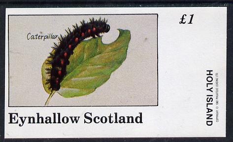 Eynhallow 1982 Insects (Caterpillar) imperf souvenir sheet (�1 value) unmounted mint