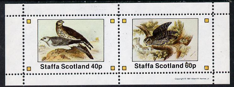 Staffa 1981 Birds of Prey #05 perf  set of 2 values (40p & 60p) unmounted mint