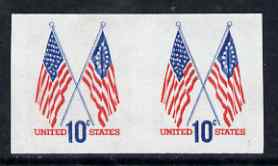 United States 1973 50-star & 13-star Flags imperf pair superb unmounted mint, SG 1518a