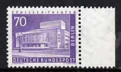 Germany - West Berlin 1956-63 Buildings 70pf (Theatre) unmounted mint marginal SG B145