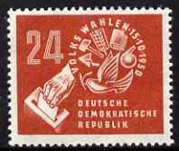 Germany - East 1950 East German Elections 24pf unmounted mint SG E32