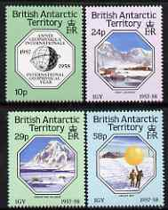 British Antarctic Territory 1987 30th Anniversary of International Geophysical Year set of 4 unmounted mint, SG 159-62