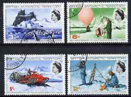 British Antarctic Territory 1969 25th Anniversary of Continuous Scientific Work set of 4 fine cds used, SG 20-23