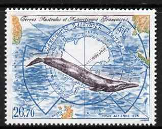 French Southern & Antarctic Territories 1996 Southern Whale Sanctuary Air 26f 70 unmounted mint, SG 359
