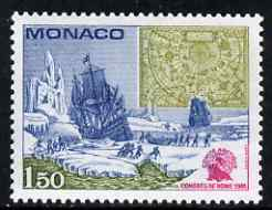 Monaco 1981 First Int Congress on Discovery and History of Northern Polar Regions 1f 50 fine unmounted mint