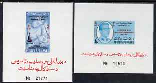 Afghanistan 1963 Red Cross set of 2 imperforate miniature sheets, unmounted mint
