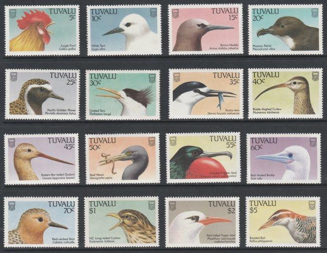 Tuvalu 1988 Birds definitive set of 16 values complete unmounted mint, SG 502-17