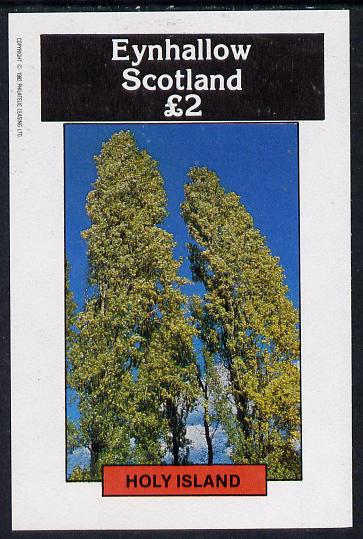 Eynhallow 1982 Trees imperf deluxe sheet (�2 value) unmounted mint