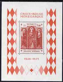 Monaco 1973 25th Anniversary of Monaco Red Cross m/sheet unmounted mint, SG MS1072