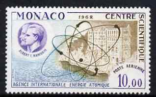 Monaco 1962 Scientific Centre 10f Air unmounted mint SG 729