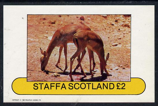Staffa 1982 Animals (Small Deer) imperf deluxe sheet (�2 value) unmounted mint