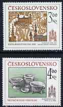 Czechoslovakia 1985 Historic Bratislava (9th issue) set of 2 (Tapestry & Pottery) unmounted mint, SG 2793-94