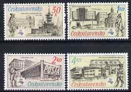 Czechoslovakia 1988 'Praga 88' Stamp Exn & 70th Anniversary of Postal Museum set of 4 unmounted mint, SG2923-26