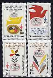 Czechoslovakia 1962 'Praga 62' Stamp Exn (4th issue) set of 4 unmounted mint, SG1297-1300
