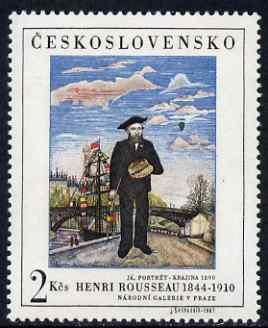 Czechoslovakia 1967 'Praga 68' Stamp Exhibition (Rousseau Self Portrait) unmounted mint, SG 1669