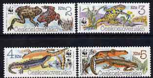 Czechoslovakia 1989 Endangered Amphibians set of 4 unmounted mint, SG2981-84