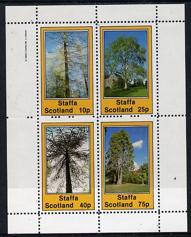 Staffa 1982 Trees perf  set of 4 values (10p to 75p) unmounted mint