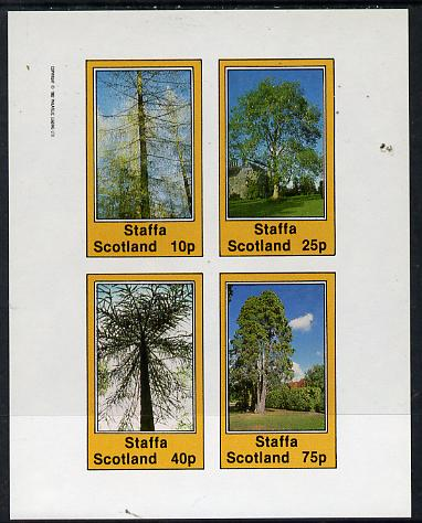 Staffa 1982 Trees imperf  set of 4 values (10p to 75p) unmounted mint