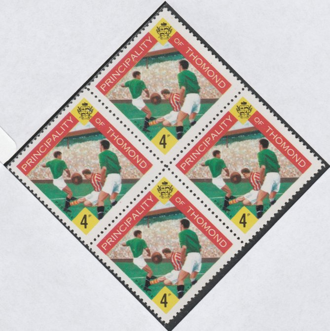 Thomond 1960 Football 4d (Diamond shaped) def unmounted mint block of 4