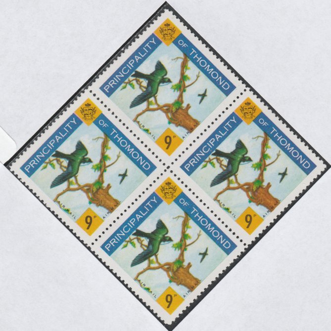 Thomond 1960 Martin 9d (Diamond-shaped) def unmounted mint block of 4