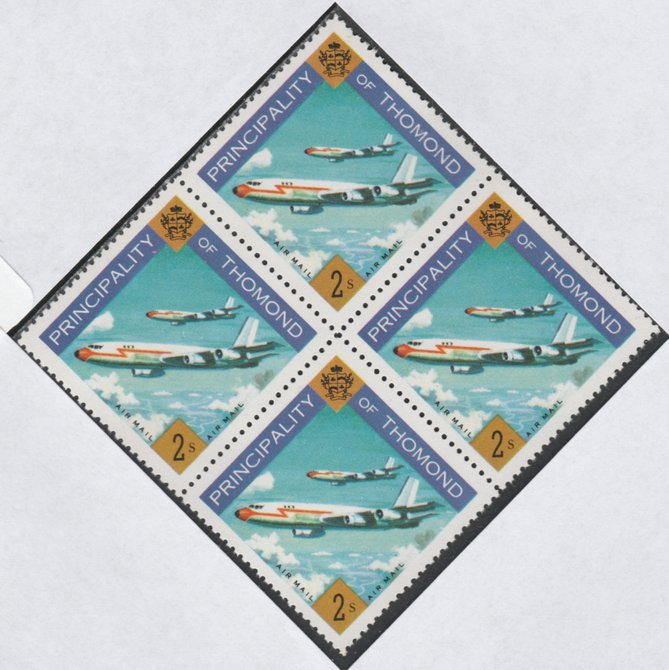 Thomond 1960 Jet Liner 2s (Diamond shaped) def unmounted mint block of 4