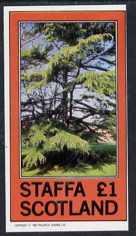 Staffa 1982 Trees imperf souvenir sheet (�1 value) unmounted mint