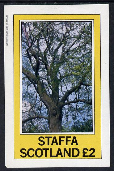 Staffa 1982 Trees imperf deluxe sheet (�2 value) unmounted mint, stamps on trees