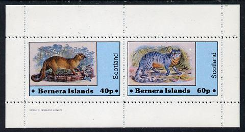 Bernera 1982 Wild Cats perf  set of 2 values (40p & 60p) unmounted mint