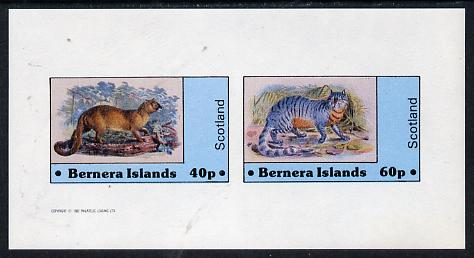 Bernera 1982 Wild Cats imperf  set of 2 values (40p & 60p) unmounted mint