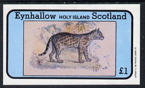 Eynhallow 1982 Wild Cats #1 imperf souvenir sheet (�1 value) unmounted mint