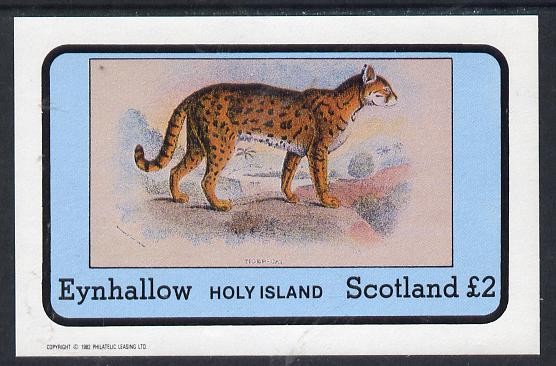Eynhallow 1982 Wild Cats #1 imperf deluxe sheet (�2 value) unmounted mint