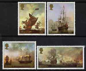 Jersey 1974 Maritime Paintings by Peter Monamy set of 4 unmounted mint, SG 115-118